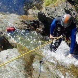 Canyoning in Fisherplace Gill Thirlmere.