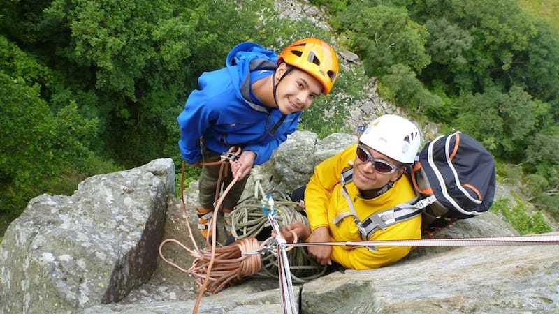 Shepherds Crag multi-pitch climb