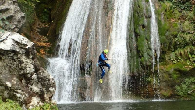 Sliding of an abseil