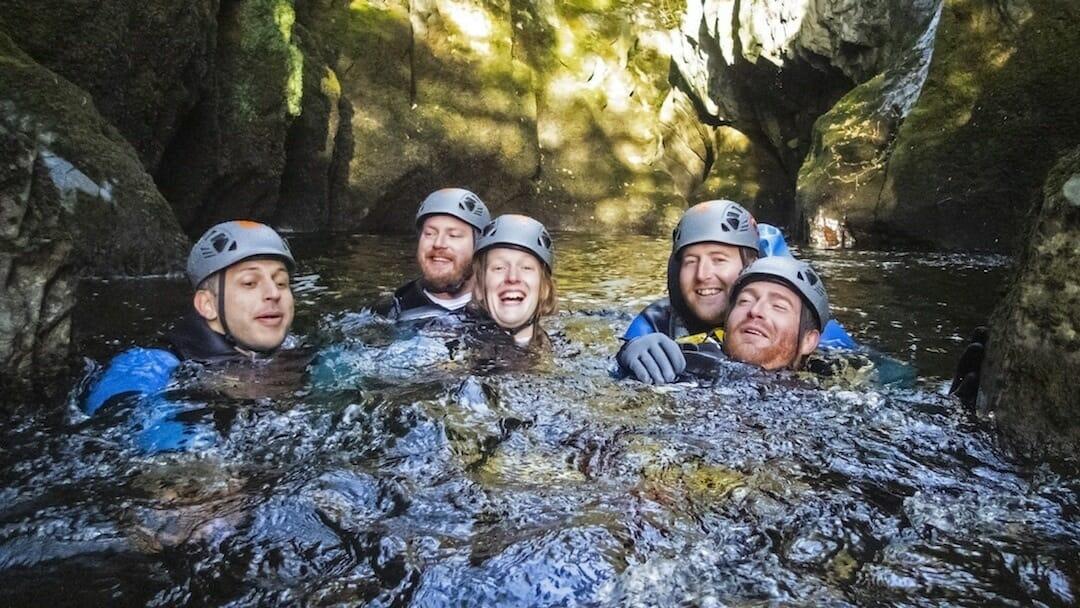 Canyoning at Ingleton waterfalls