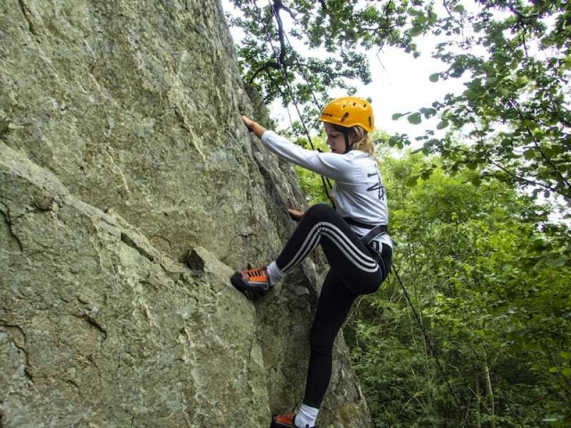 Climbing on Ullswater-a fantastic setting in the Ullswater valley