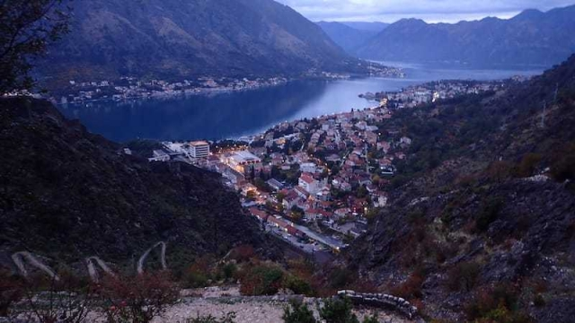 evening sunset over Kotor