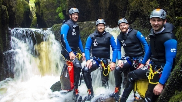 Exploring canyoning in Ingleton Waterfalls