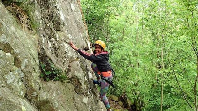 Family climbing on Gowbarrow - family climbing session