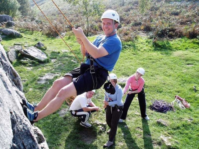 Group learning to climb session - learning to climb with Mountain Rat Adventures