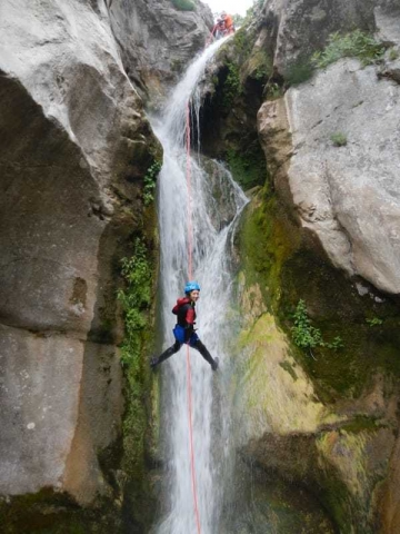 long abseil in Montenegro-Međurečki canyon