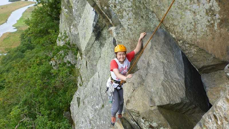Multi-pitch-climbing-climbing little Chamonix at shepherds crag