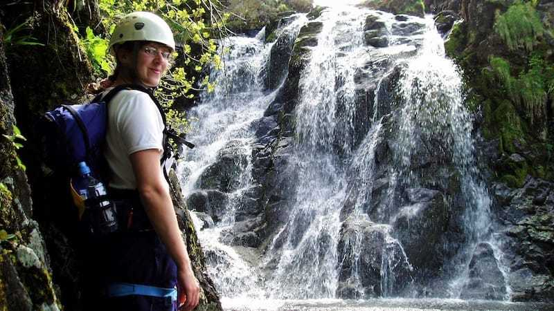 Scrambling - scrambling a ghyll while keeping dry