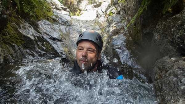 Taking the plunge in stoneycroft gill-stoneycroft gill ghyll scramble