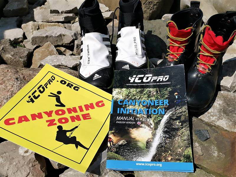 canyoning shoes adidas and etche and icopro book