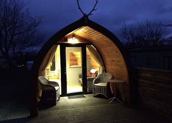 an image of a glamping cabin