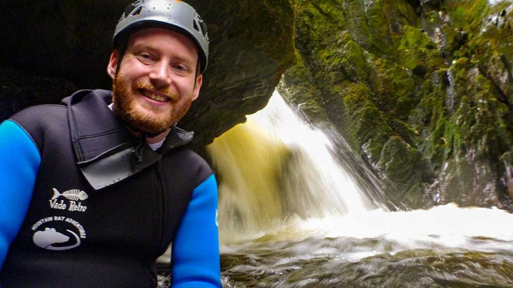 canyoning-can-be-a-stress-reliever-this -image-shows-a-happy-client-in-canyon-scene